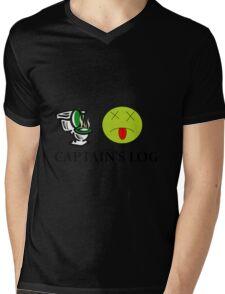 Captain's Log Mens V-Neck T-Shirt