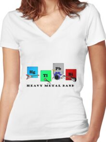 Heavy Metal Band Women's Fitted V-Neck T-Shirt
