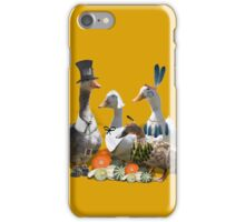 Pilgrims & Indians Thanksgiving Goose and Ducks iPhone Case/Skin
