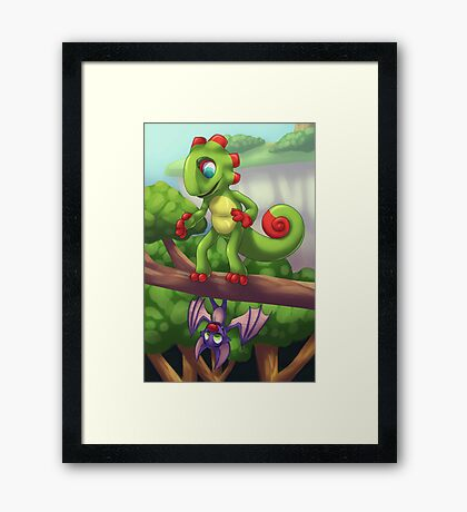 Upside Down and Rightside Up Framed Print
