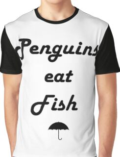 Penguins Eat Fish Graphic T-Shirt