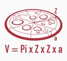 Pizza Equation : V = Pi x Z x Z x a by DesignFactoryD