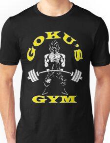 Goku's Gym (Yellow and White) Unisex T-Shirt