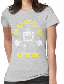 Goku's Gym (Yellow and White) Womens Fitted T-Shirt
