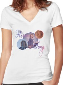 River Song Women's Fitted V-Neck T-Shirt