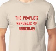 The People's Republic of Berkeley (red letters) Unisex T-Shirt