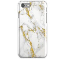 White Marble With Gold Accents iPhone Case/Skin