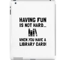 Library Card Fun iPad Case/Skin