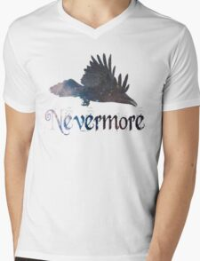 Quoth the Raven 'Nevermore' Mens V-Neck T-Shirt