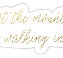 Life Is Not The Mountain Tops... It's the Walking In Between Sticker