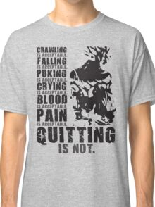 Quitting Is Not Acceptable (Ripped Saiyan Back) Classic T-Shirt