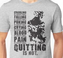 Quitting Is Not Acceptable (Ripped Saiyan Back) Unisex T-Shirt