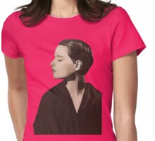 Louise Brooks with bust of Dante Alighieri  Womens Fitted T-Shirt