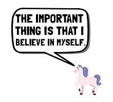 Unicorn Believe In Myself by AmazingMart