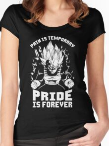 Pain Is Temporary, Pride Is Forever (Vegeta) Women's Fitted Scoop T-Shirt