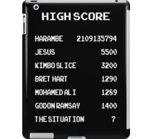 high score harambe, jesus, kimbo slice iPad Case/Skin