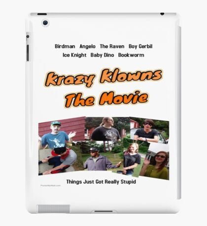 Krazy Klowns: the Movie Official Poster (edited) iPad Case/Skin