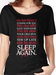 1, 2 Freddy's Coming For You... Women's Relaxed Fit T-Shirt