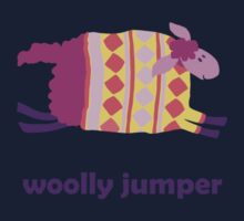 Woolly jumper! in pink and purple One Piece - Short Sleeve