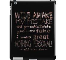 All Time Low Lyrics iPad Case/Skin
