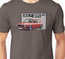 VW GOLF 1 GTI Red Unisex T-Shirt