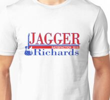 VOTE Jagger Richards for Satisfaction Unisex T-Shirt