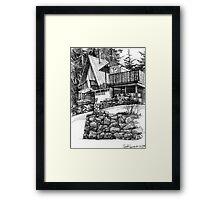 Cottage in North Vancouver Framed Print