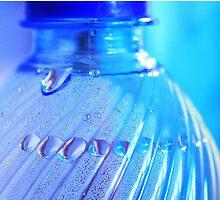 Blue Bottle/Water Drops by JuliaRokicka