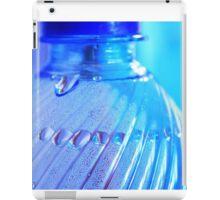 Blue Bottle/Water Drops iPad Case/Skin