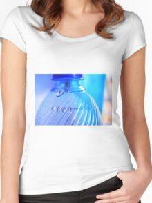 Blue Bottle/Water Drops Women's Fitted Scoop T-Shirt