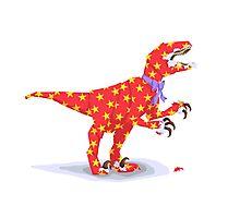 Surprise! It's a velociraptor! Photographic Print