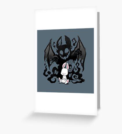 Beast Bunny Greeting Card