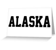 Alaska Jersey Font Black Greeting Card