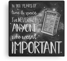 Doctor Who, 900 Years of Time & Space Canvas Print