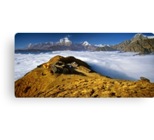 Campsite on Kopra Ridge, Nepal Canvas Print