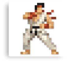 Ryu 8-bit Streetfighter Canvas Print