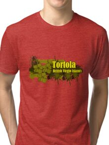 No Rush In Tortola Tri-blend T-Shirt