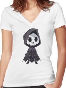 Chibi Sombra Women's Fitted V-Neck T-Shirt