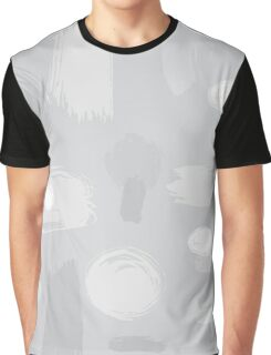 Grey Abstract Pattern Graphic T-Shirt