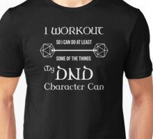 DnD Character Workout - in white Unisex T-Shirt