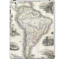 Vintage Map of South America (1850) iPad Case/Skin