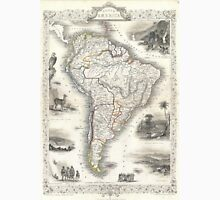 Vintage Map of South America (1850) Unisex T-Shirt