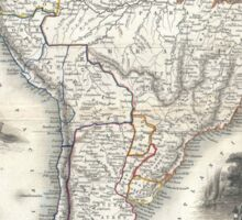 Vintage Map of South America (1850) Sticker