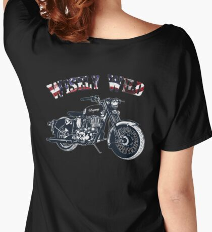 Wisely Wild Biker Apparel and Gifts  Women's Relaxed Fit T-Shirt
