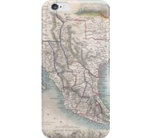 Vintage Map of Mexico (1851) iPhone Case/Skin