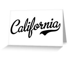 California Script Font Black Greeting Card