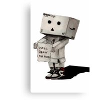 Danbo Drawing Canvas Print