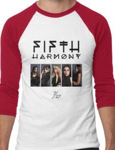 Fifth Harmony 7/27 Portrait #BlackText Men's Baseball ¾ T-Shirt