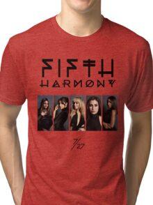 Fifth Harmony 7/27 Portrait #BlackText Tri-blend T-Shirt