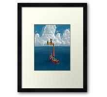 Wind Waker-Lone Ocean  Framed Print